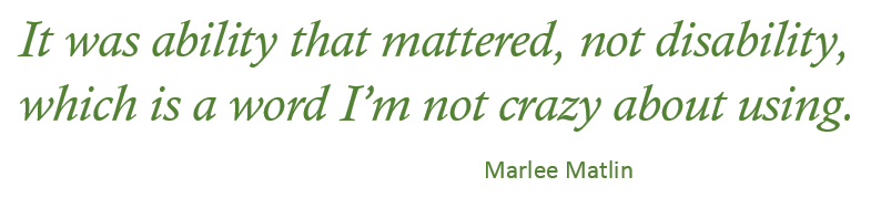 Image of Quote from Marlee Matlin
